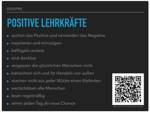 10 Gewohnheiten positiver Lehrkräfte via @jens_kessler